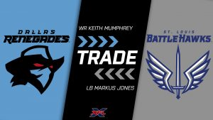 WR Keith Mumphrey to @XFLBattleHawks; LB Markus Jones to @XFLRenegades