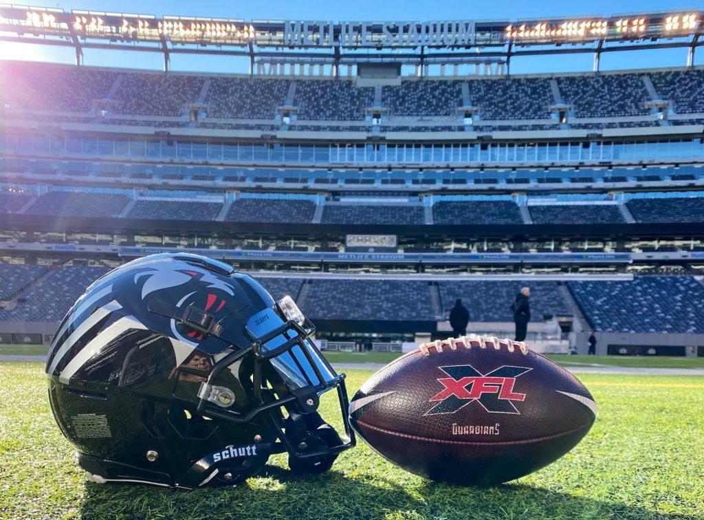 New York Guardians helmet and ball