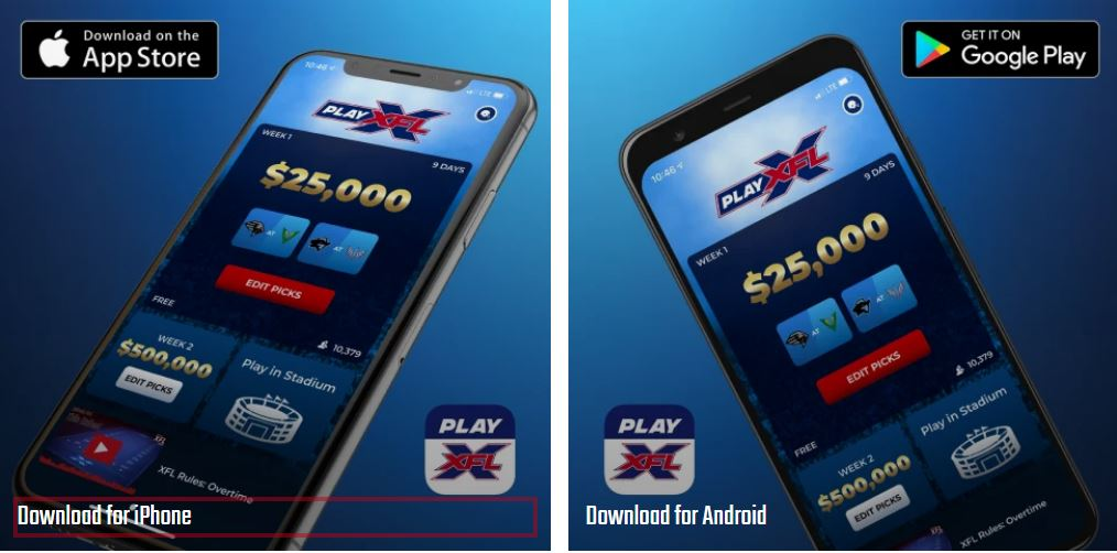 Play XFL is available in both the Apple and Google Play stores.