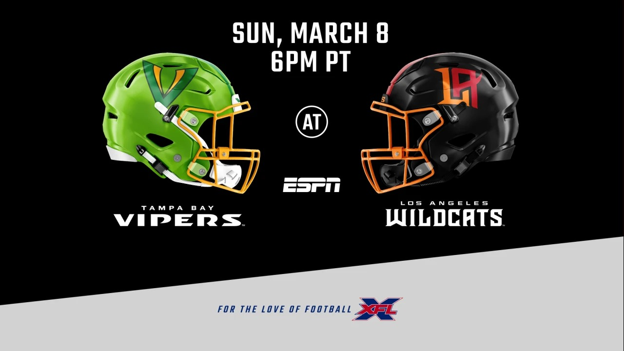 Preview Xfl Tampa Bay Vipers At Los Angeles Wildcats Xfl News Xflboard Com