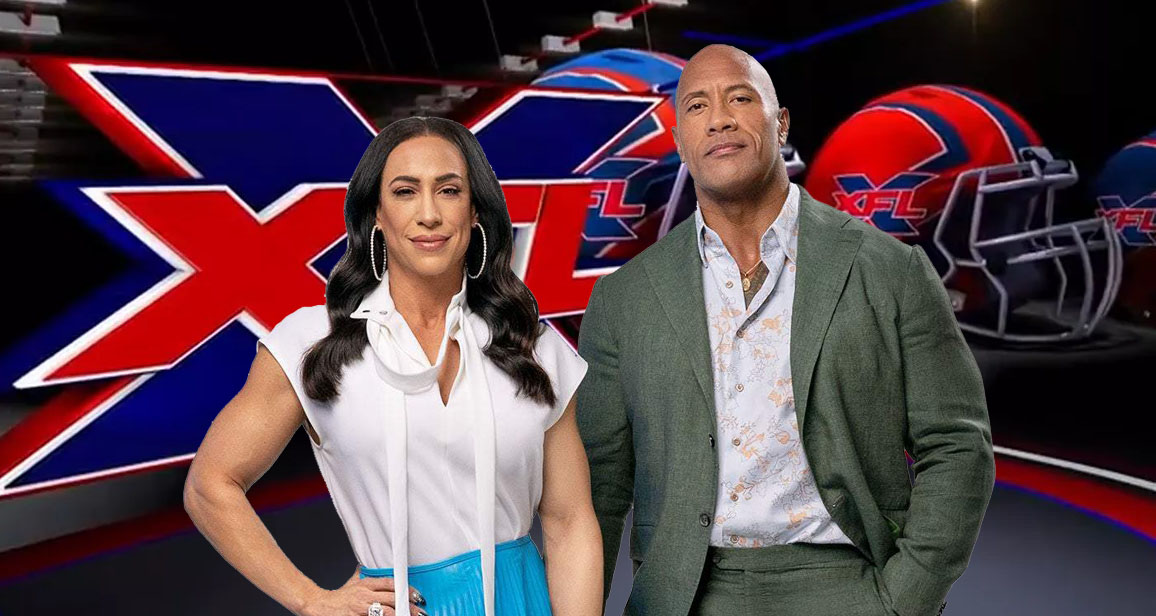 "Dany Garcia and Dwayne ""The Rock"" Johnson, new owners of the XFL"
