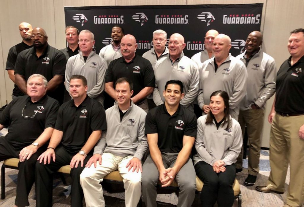 New York Guardians coaches and staff.