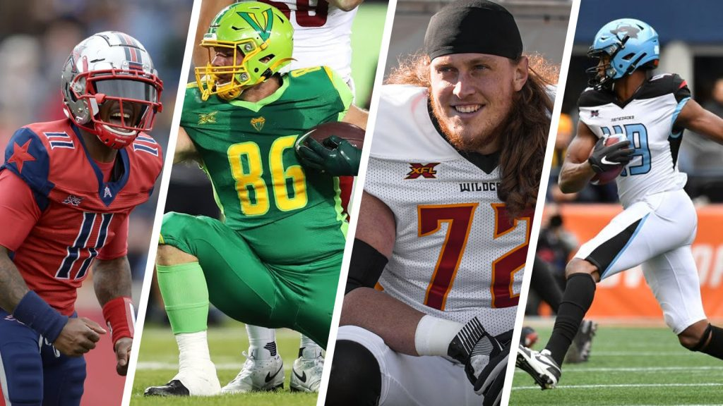 QB PJ Walker (Houston Roughnecks), TE Colin Thompson (Tampa Bay Vipers), OT Storm Norton (LA Wildcats), and TE Donald Parham (Dallas Renegades) all made it onto the 53-man roster of an NFL team.