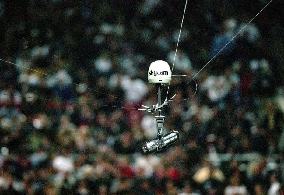 The SkyCam seen at an XFL game in 2001 was one of technological advances the league made for television.