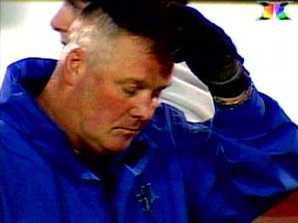 A dejected Rusty Tillman