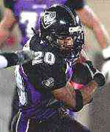 John Avery runs for the Enforcers. (AP)