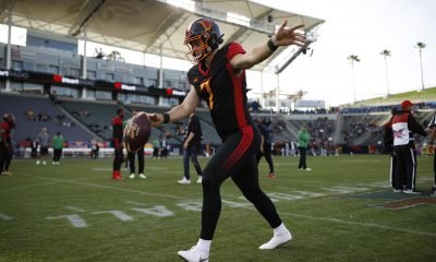 XFL Los Angeles Wildcats punter Shane Tripucka