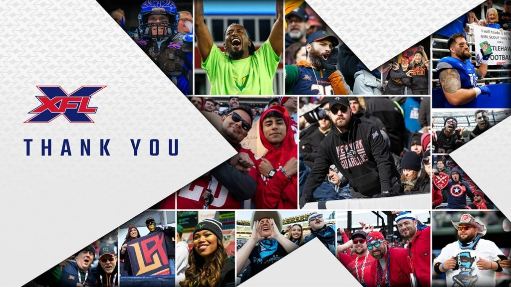 XFL Letter to Fans