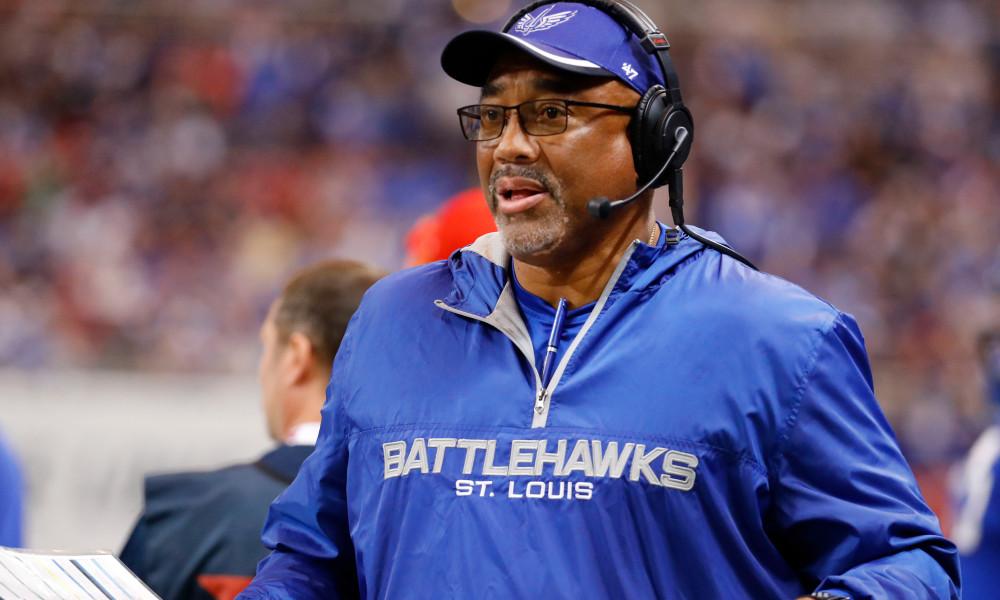 St. Louis BattleHawks head coach Jonathan Hayes