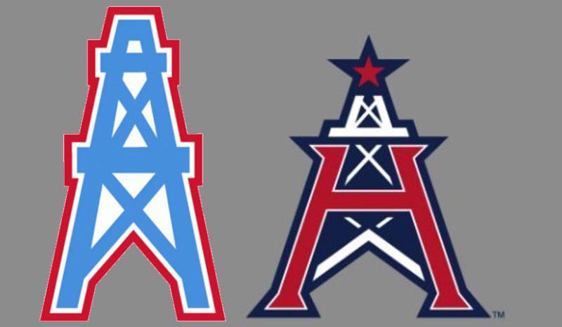 Houston Oilers and Roughnecks logos
