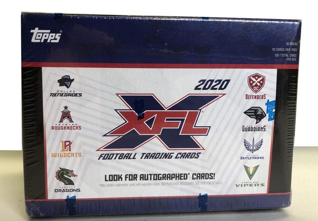 XFL Topps Blaster Box